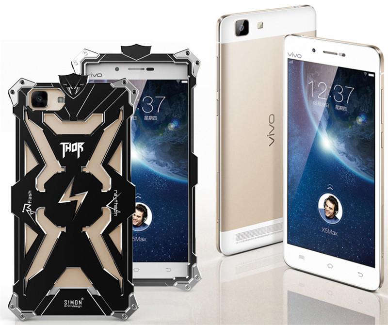 VIVO X5 max Original Design Armor Heavy Dust Metal Aluminum THOR IRONMAN protect phone bag case cover for BBK VIVO X5 max case(China (Mainland))