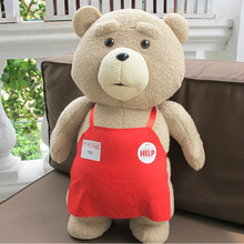 2015 Movie Teddy Bear Ted 2 Plush Toys In Apron 45CM Soft Stuffed Animals Ted Bear Plush Dolls