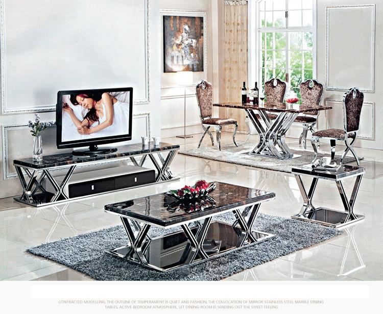 2015 Dining table set marble dining table set dining room furniture send from China(China (Mainland))