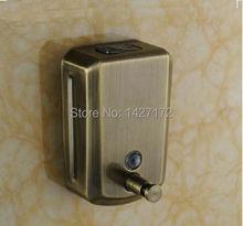 Wall Mounted Classic Antique Bronze Brass Bathroom Liquid Soap Dispenser 800ml(China (Mainland))