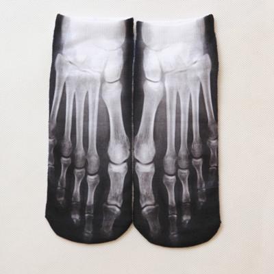 1pairs/bag High Quality Women Cotton 3D Printed Socks Cute Funny Meias Low Cut Ankle boot socks female Food Animal Short Socks(China (Mainland))