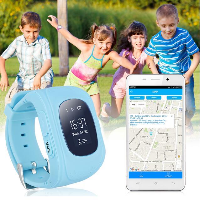 2016 Manufacturer Hot sales q50 kids smart cell phone tracker watch kids gps watch Q50 children anti-Lost watch(China (Mainland))