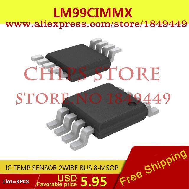 Free Shipping Electronic Voltage Regulator LM99CIMMX IC TEMP SENSOR 2WIRE BUS 8-MSOP LM99 99C 3pcs(China (Mainland))