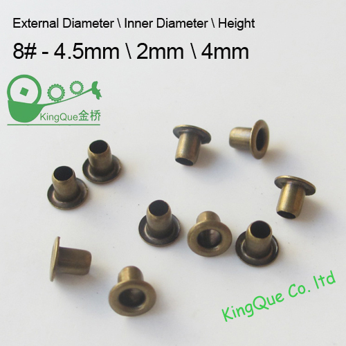 600 pcs brass eyelet 2mm grommet antique brass color metal brass material extreme small without washer for toy doll costume(China (Mainland))