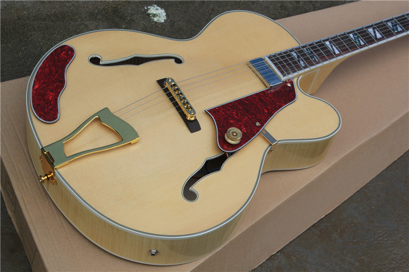 free shipping New Top Quality musical instrument Natural maple  wood L5 hollow body jazz guitar  1 2<br><br>Aliexpress
