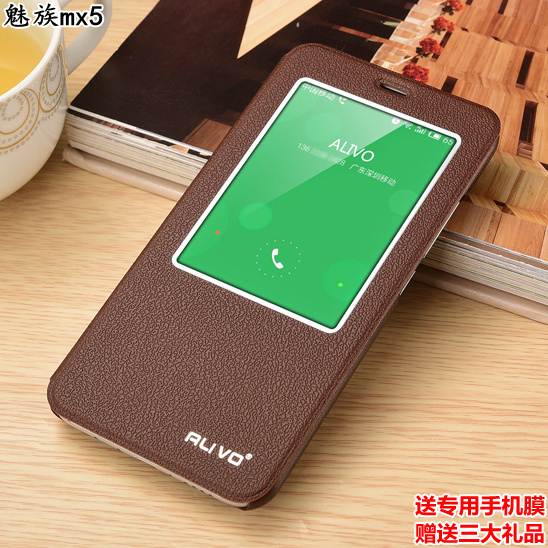 7 Colors Discount For Meizu 5 MX 5 MX5 Leather Luxury Flip Phone Cover Case for Meizu MX5 View Window Free Shipping Top Quality(China (Mainland))
