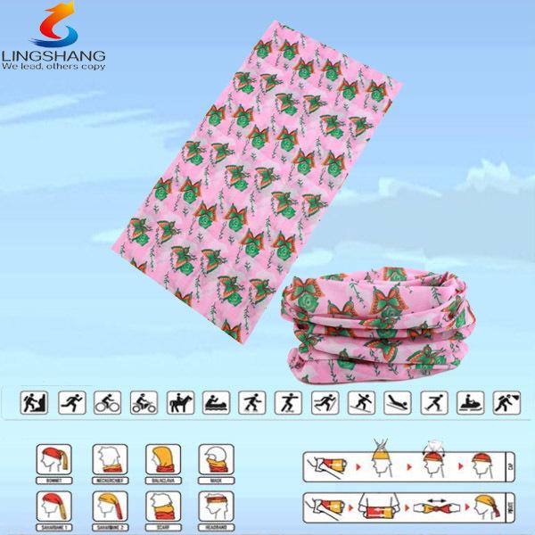 LSB-0122 Ningbo Lingshang 100% polyester multifunctional seamless outdoor neck tube hijab fashion arabic bandanas(China (Mainland))