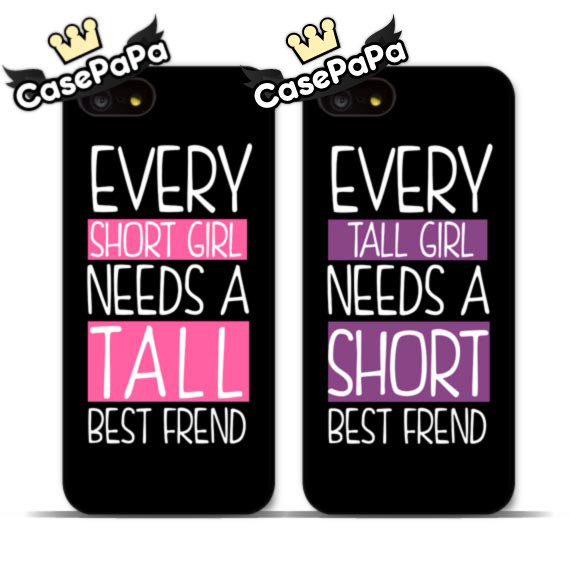 Tall And Small Girls BFF Cell Phone Case For iPhone 6 6 Plus 5 5s 4s 5C For iPod 5 4 The Best Friend Lovely Cover(China (Mainland))
