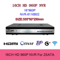 16channel NVR H 264 HDMI 1080P Network Video Recorder IP Camera NVR 16 Channel 960P 8