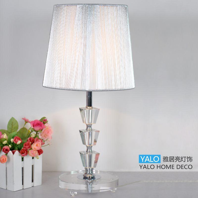 Fashion crystal table lamp ofhead black living room lamps decoration mt-8413(China (Mainland))