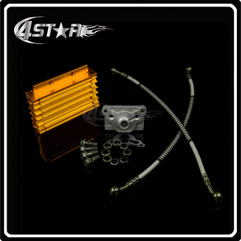 CNC Oil Cooling Cooler Radiator For 50cc 70cc 110cc 125cc 140cc 150cc Engine Dirt CRF Pit Monkey Bike ATV Motorcycle