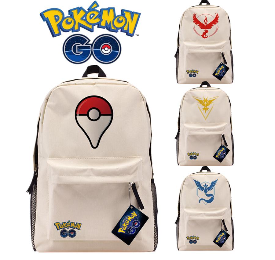 font b Pokemon b font font b GO b font Logo Khaki Backpack Team Valor