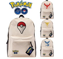 Pokemon GO Logo Khaki Backpack Team Valor Mystic Instinct Shoulders Bag Laptop Bag Schoolbag