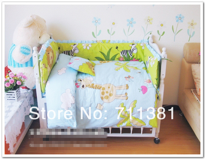 100% Cotton Girls And Boys Bedding Set, Baby Bedclothes, Baby Bedding Bumper &amp; Sheet, Free Shipping By EMS<br>