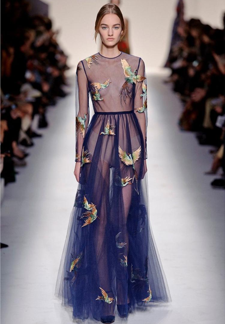 Платья с кружевной сеткой фото