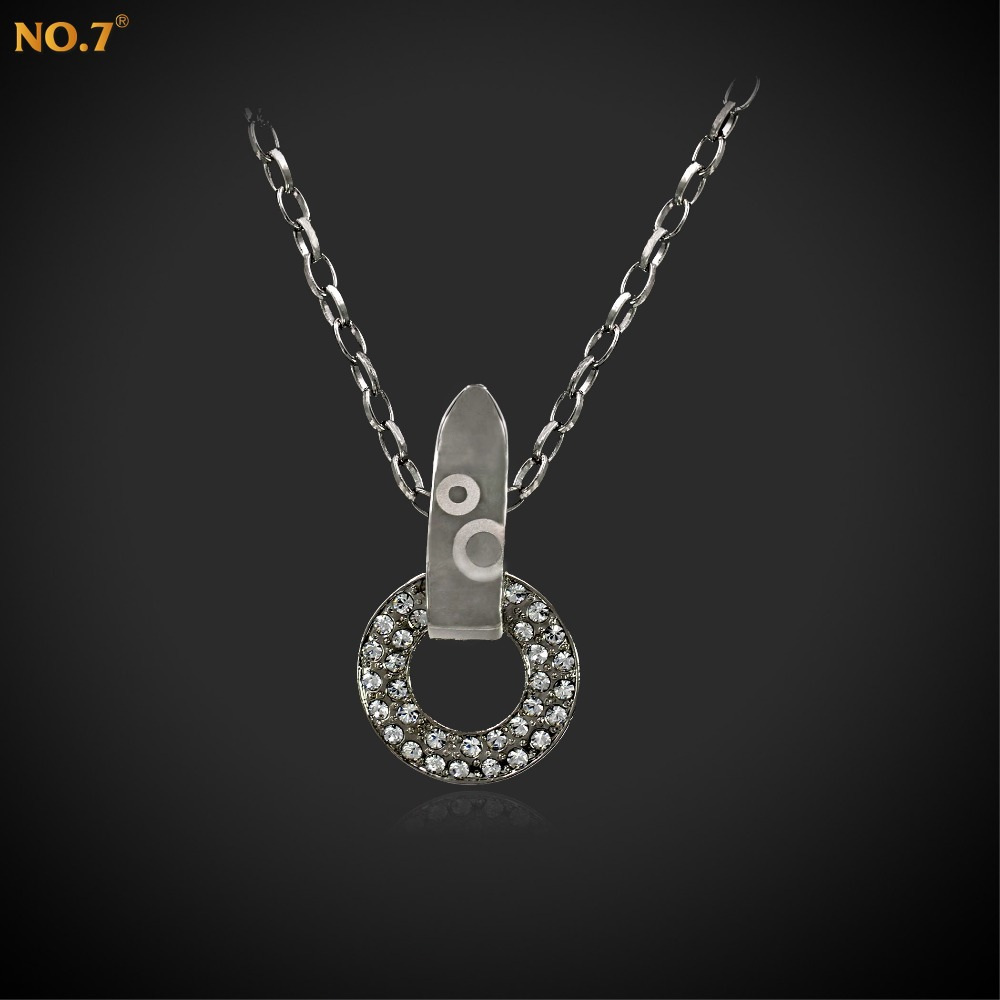 Bohemian Choker Necklace Female, Austrian Zircon Coin Necklace,Platinum Plated Necklace Chain Adjustable,Cheap Costume Jewelry(China (Mainland))