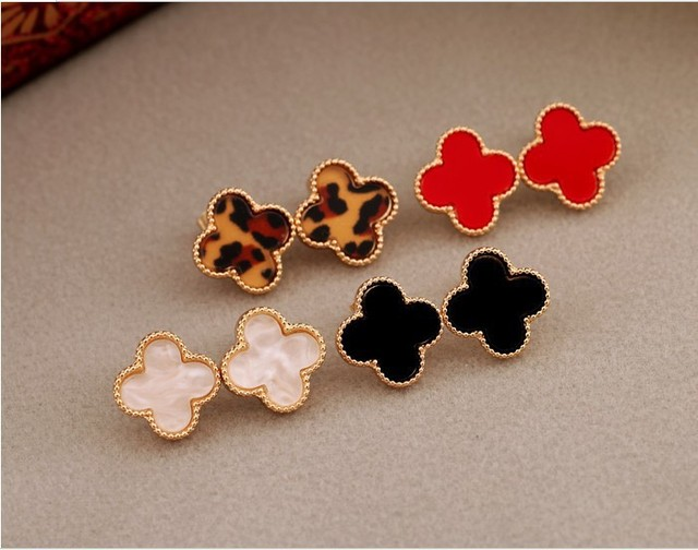 [Min. At Least $8] Factory Direct Price Love/ Four Leaves /Grass and Heart Stud Earrings free shipping 1293
