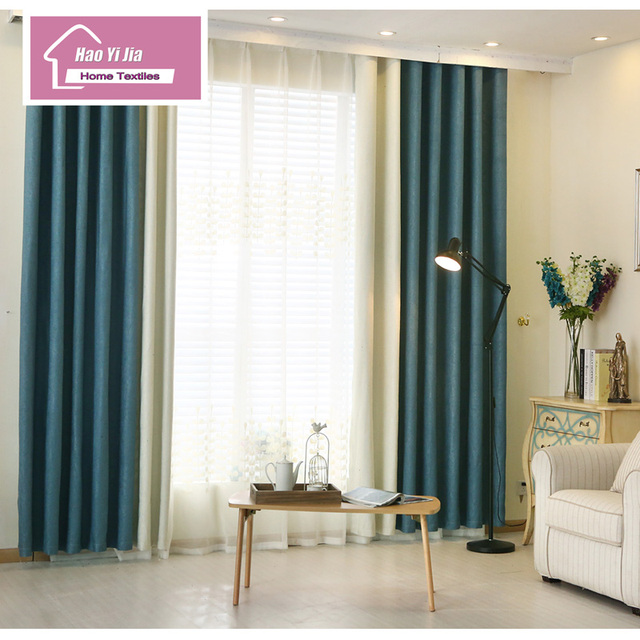 2016 The Latest Version Two Colors Together Curtain Cloth