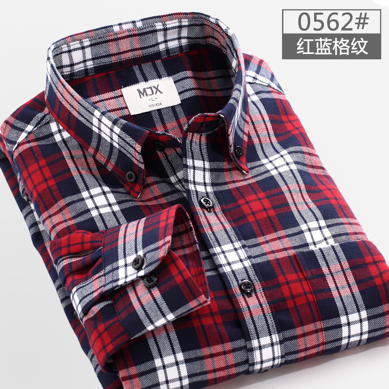 Red and black plaid shirt men sanded mens shirt in cell to for Mixed plaid shirt mens