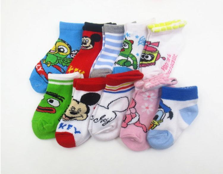 Newborn 0-1 -2 Years of Age Cartoon Baby Socks Girl Boy Non Slip Meias Infantil Children Sock Kids Short Socks(China (Mainland))