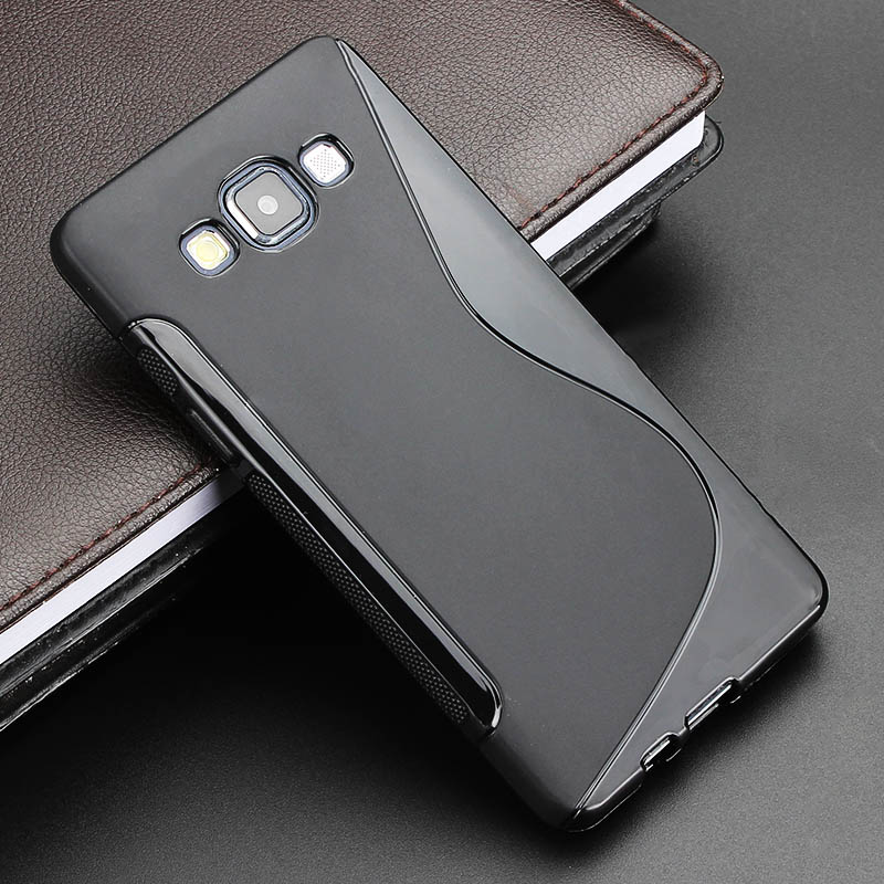 2015 S Line Gel TPU Slim Soft Anti Skiding Case Back Cover Samsung Galaxy A5 A500 Mobile Phone Rubber Silicone Skin Cases