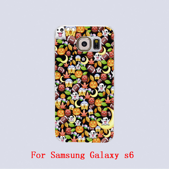 Halloween emoji Design Transparent phone cover cases For Samsung Galaxy S3 9300 /S4 /S5 /S6 /S6 Edge