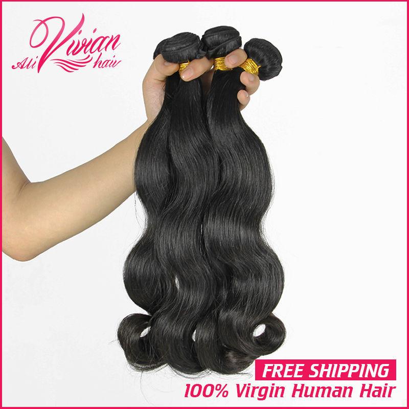 Rosa Hair Products 7A Malaysian Virgin Hair Malaysian Body Wave 3 Bundles Unprocessed Human Hair Weave Natural Black Color(China (Mainland))