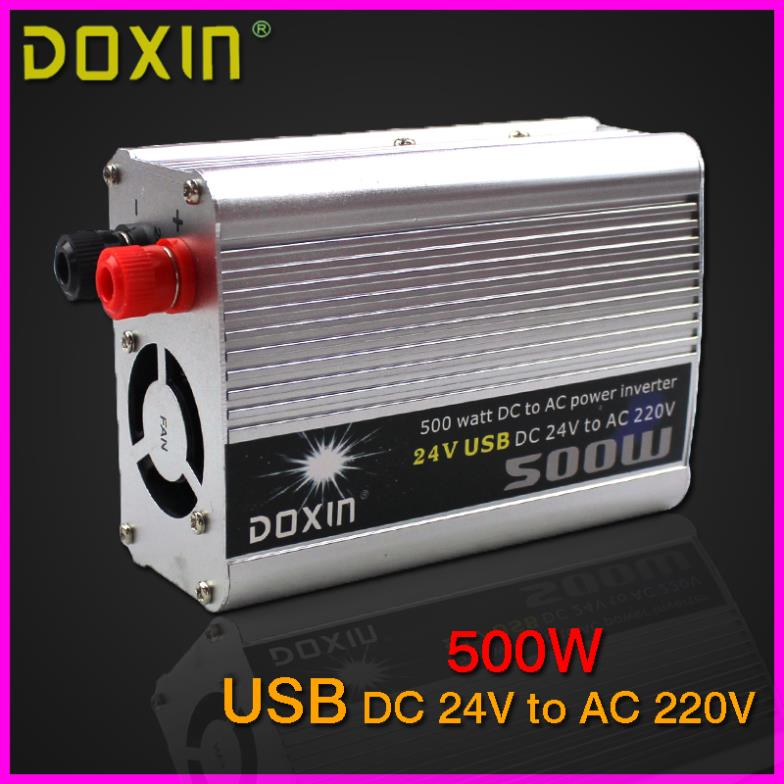 DC 24V to AC 220V Car Battery Charger 500W USB Household Car Power Inverter Converter Car Power Supply ST-N022(China (Mainland))