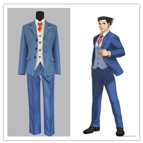 Ace Attorney Phoenix Wright Naruhodo Ryuichi Naruhodou Ryuuichi Gyakuten Saiban Cosplay Costume