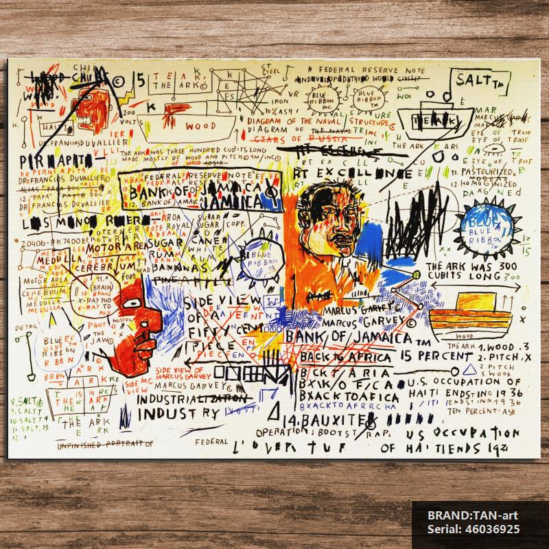 GRAFFITI ART POSTER PRINT ON CANVAS 50centpiece BY Jean Michel Basquiat NeoExpressionism FOR HOME DECORATION 46036925(China (Mainland))