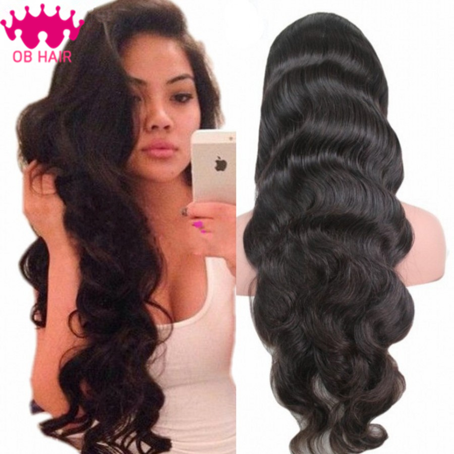 Lace Front Wig Unprocessed Virgin Glueless Full Lace Wig Brazilian Body Wave Full Lace Human Hair Wigs For Black Women Wave Wigs<br><br>Aliexpress