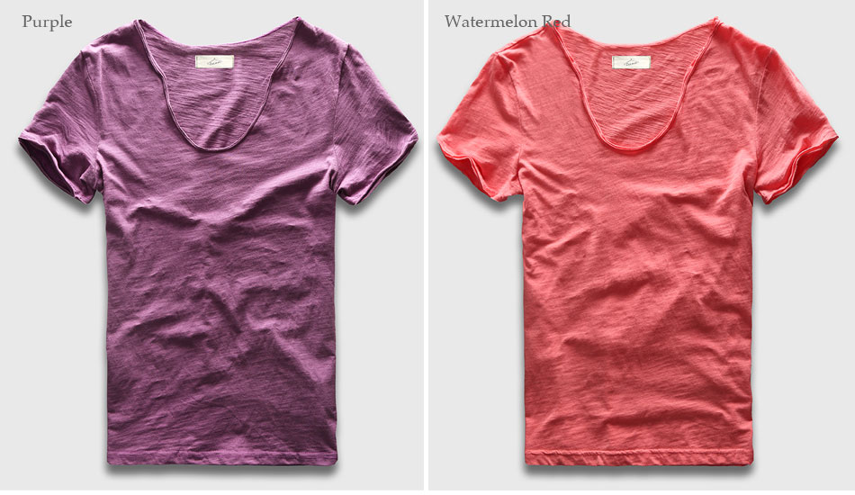 HTB1gHAWPXXXXXXxXFXXq6xXFXXXD - Men Basic T-Shirt Solid Cotton V Neck Slim Fit Male Fashion T Shirts Short Sleeve Top Tees 2017 Brand