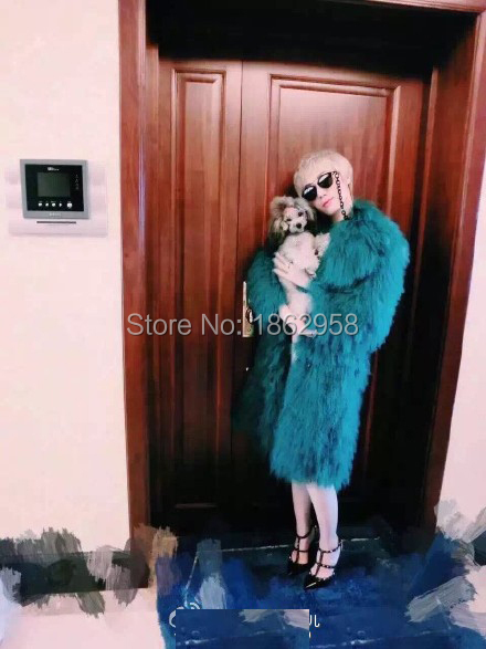 90CM SJ145-01 Morden Winter Fashion Coats Furs/Fashion Lady Russian keep Clothing/Warm Fur Clothes - Tongxiang Sandra Company store