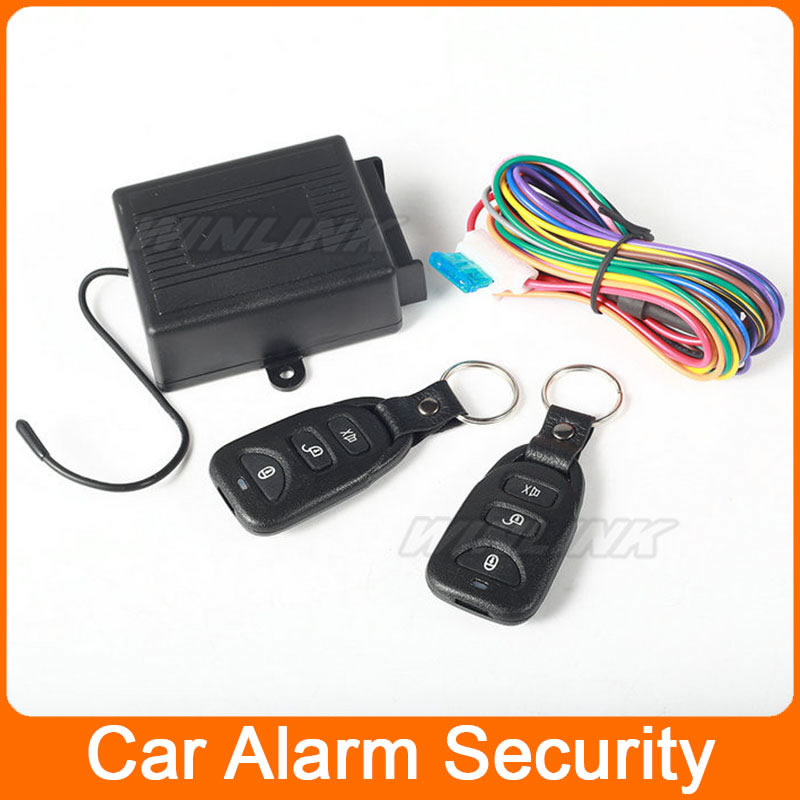 Remote Control Central Door Locking Conversion Lock Kit Keyless Entry System with 2 Remote Controllers Car Alarm System(China (Mainland))