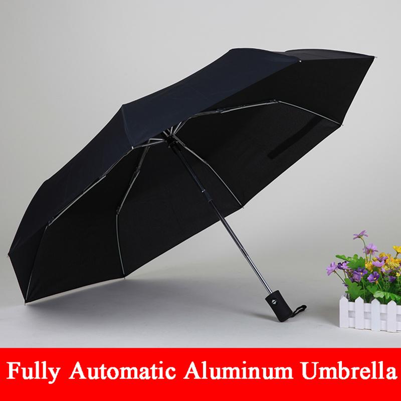 2016 Новый arriveGentles Дамы Полностью автоматическая Алюминиевого Сплава стекловолокна сильный Кадр Три Складной компактный большой дождь зонтик