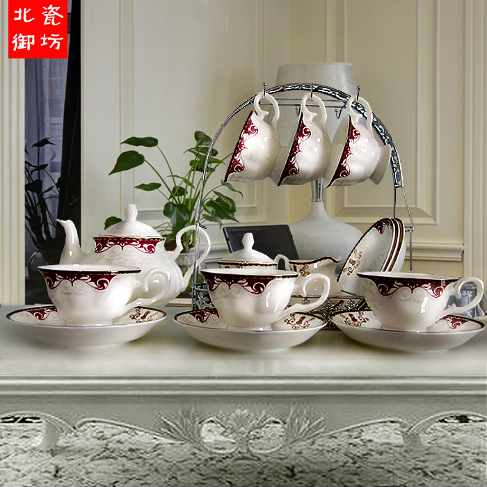 Porcelain tea sets High quality bone china coffee cups set ceramic coffee cup and saucer wedding