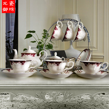 Porcelain tea sets High quality bone china coffee cups set ceramic coffee cup and saucer wedding gift