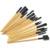 Wholesale Price! 24pcs 24 pcs Cosmetic Facial Make up Brushes Kit Makeup Brush Tools Set + Black Leather Case,Free Shipping