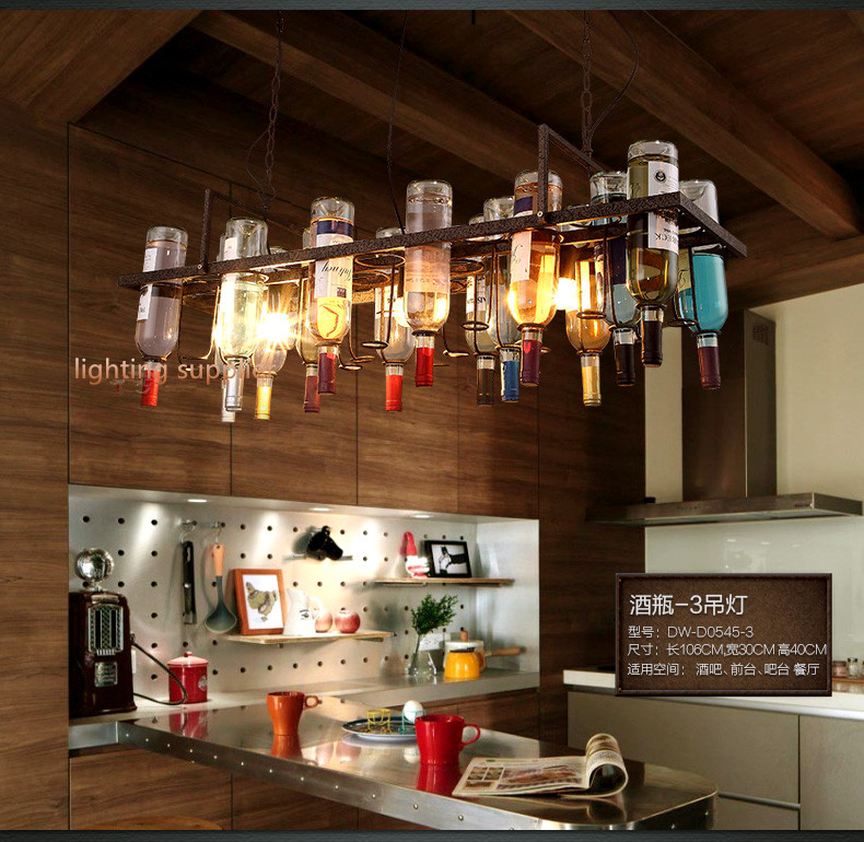 Recycled retro Hanging Wine Bottle Pendant Lamps light  : Recycled retro Hanging Wine Bottle Pendant Lamps light with Edison bulb for dining room bar restaurant from www.aliexpress.com size 790 x 770 jpeg 210kB
