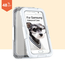 S7 Waterproof Case!! Summer Swimming Cover for Samsung Galaxy S7 Case Clear Phone Bags Shell Pouch Shell FCoqueunda Capa