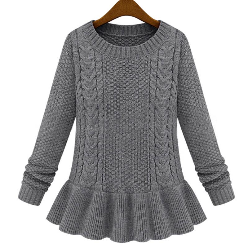 2015 autumn women knit blouse mini sweater dress womens
