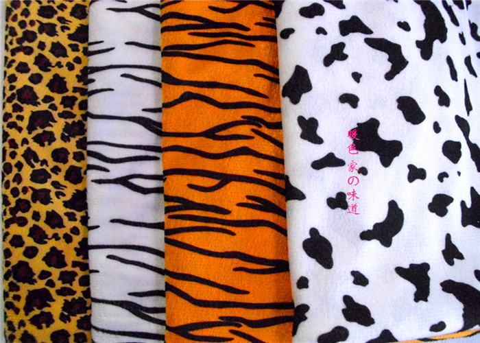 1 meter printing pattern Animal fabric short hair velboa for DIY sewing Stuffed toys material Warp knitting velvet(China (Mainland))