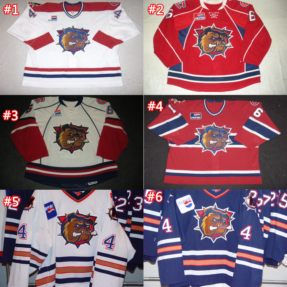 Customize Hamilton Bulldogs jersey Jan Horacek / Pouliot / Ajay Baines / Chad Anderson / Ajay Baines AHL jersey sew any name&amp;no.<br><br>Aliexpress