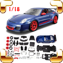 Buy Christmas Gift GT3 RS 1/18 DIY Model Assemble Toys Car Piece Together Game Decoration Toys Cars Alloy Collection Scale Present for $87.29 in AliExpress store