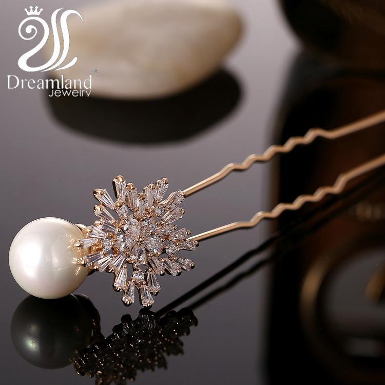 2015 Fashion Hair Jewelry Wedding Bridal Hair Accessories Hair Sticks Pealr Rhinestone Flower hairwear Free shipping 063(China (Mainland))