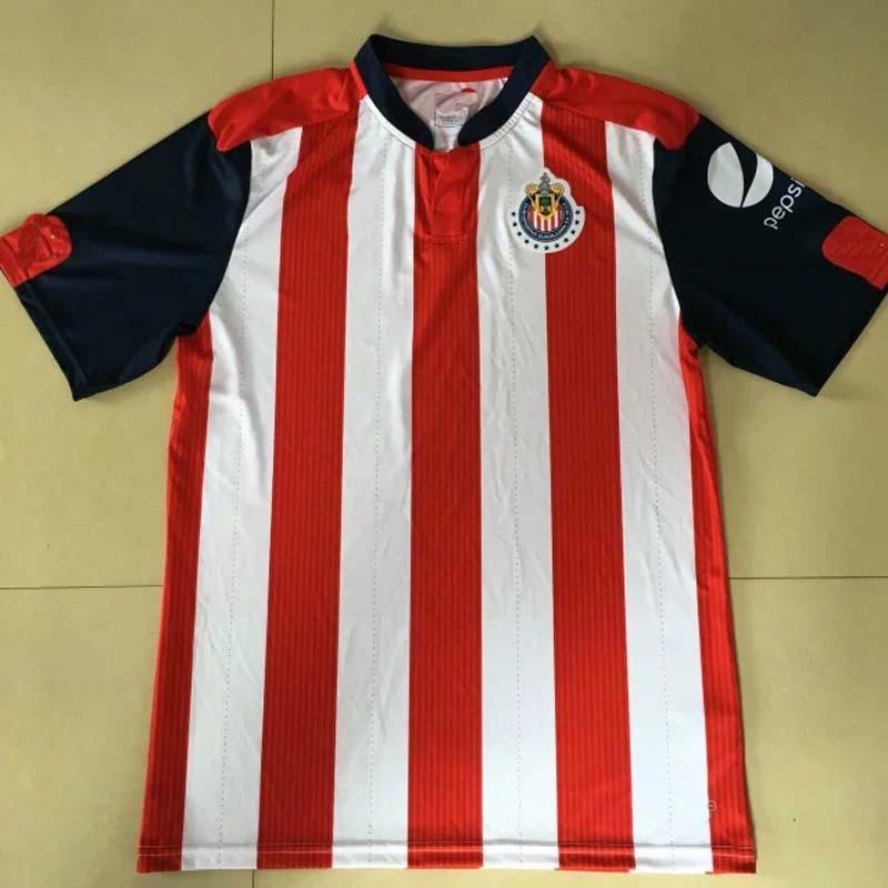 2016 2017 New Guadalajara of Mexico Soccer jerseys Home Red and white Guadalajara of Mexico Football Kits Thai top quality(China (Mainland))