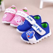 baby shoes 2016 new spring sport cartoon network breathable mesh baby girls shoes fashion kids first walkers free shipping(China (Mainland))