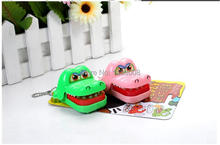 New Plastic Crocodile Dentist Bite With Keychain Mouth Dentist Game Toy Party High Quality(China (Mainland))