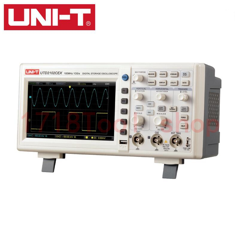 2015 Promotion Hantek Multimeter Oscilloscope 50mhz 2channels 500ms/s Bench Oscilloscope 7 Inches Tftlcd 400x240 Usb Utd2052cl<br><br>Aliexpress