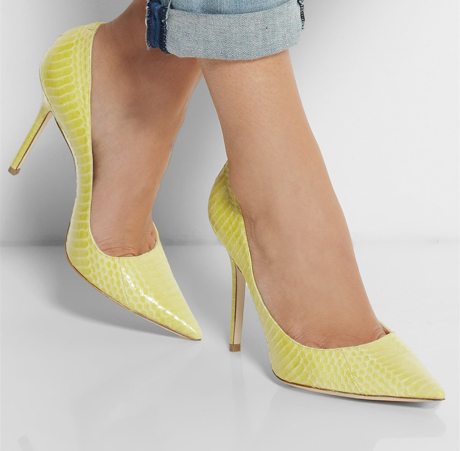 Light Yellow High Heels